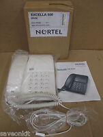 NEW - Nortel Excella 500/ Home Office Corded BT Line Deskphone Telephone- White