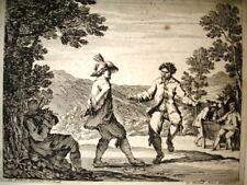 JEAN LE PAUTRE. Danza di contadini.Acquaforte XVII secolo