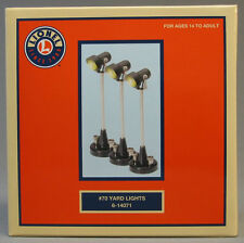 LIONEL #70 LIGHTED YARD LIGHTS (3) scenery lamp post lighting o gauge 6-14071