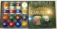 ARAMITH BELGIAN CAMOUFLAGE POOL BALLS COOL CAMO SET - FREE US SHIPPING