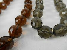 Joan Rivers Faceted Glass Bead Necklace PAIR