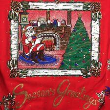 Vintage Ugly Christmas Sweatshirt Sweater Winter Scene Nutcracker Peanuts Disney