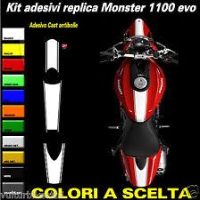 Kit adesivi replica ducati monster 1100 evo fasce per cover,serbatoio,parafango