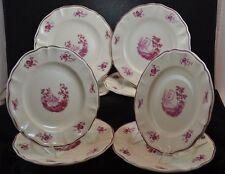 "Sarreguemines Corot Set of 8 Luncheon Plates 8 3/4"" Quimper"
