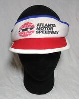 Atlanta Motor Speedway Red White Blue Visor Hat Ball Cap Rare Vintage 1980s