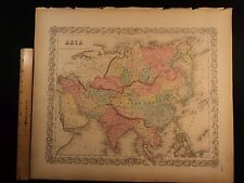 1855 1st COLTON Atlas Color Map ASIA Turkey India China Russia Persia 14x17in