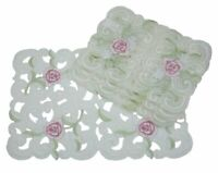 Dainty Rose Embroidered Cutwork Spring Placemats, 12-Inch by 18-Inch, Set of 4