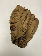 "Rawlings 12"" Mag Km14 Baseball Softball Glove Vintage Leather Made In Usa."