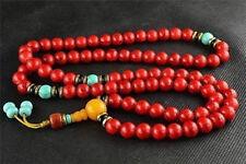 china tibet tibetan Red Bodhi buddhist buddha worry prayer bead mala bracelet