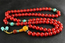 china tibet tibetan Red Bodhi buddhist buddha worry prayer bead mala Necklaces