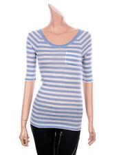 Women's Striped 3/4 Sleeve T-Shirts