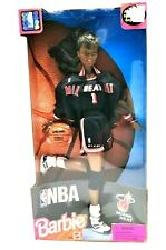 Barbie African American Licensed Nba Miami Heat in Nba Uniform '98 - New