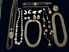 or repurpose, gold tone Assorted jewelry-vintage: to wear, resale,