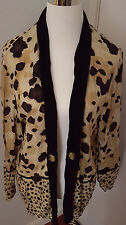 SHARON ANTHONY~Lightweight Blazer~ 2X~Animal Print~Crinkled w/Decorative Buttons