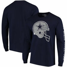 NFL Dallas Cowboys Stickum Long Sleeve T-Shirt Navy  Large Free Shipping