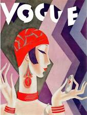 ART DECO FASHION Vogue Magazine Cover July 1926.....Quality Bookprint