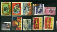 13 Ghana/Gold Coast Postage Stamps Collection  TEN74