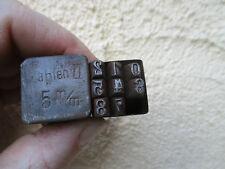 alte unvollständige 5 mm Schlagzahlen Oldtimer,Motorrad,Zündapp,BMW,Stempel,2.WK