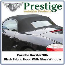 Porsche Boxster Car Hood Hoods Soft Top Tops Black Mohair Fabric 1997-2002