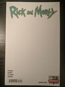 Rick and Morty 30 Blank Sketch Exclusive Variant Rare! NM Big Photos!