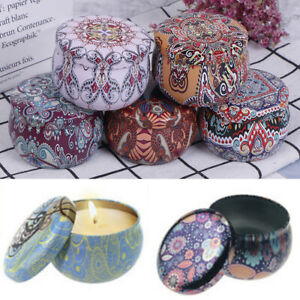 Natural Scented Candle Empty box Tin Can Home Decoration Outdoor Candy GiftBDBI