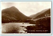 POSTCARD NEWCASTLE COUNTY DOWN MOUNTAINS OF MOURNE 1935 BOGNOR REGIS ADDRESS
