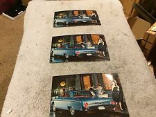 1962 FORD  NOS GALAXIE  POSTCARDS   3    NO RESERVE