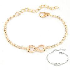infinity symbol bracelet bangle chain adjustable gold silver friendship love UK