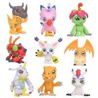 9 pcs Digital Monster Adventure Agumon Gabumon Mini PVC Figures Set Digimon Toys