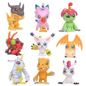 9 pcs Digital Monster Adventure Agumon Gabumon Mini PVC Figures Set Digimon Toys