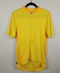 CANNONDALE CHRONO Cycle JERSEY Shirt Size XL Polyester BIKE Bicycle YELLOW USA