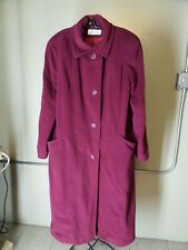 Vintage Women's Bromleigh Long Burgundy Winter Jacket 1950's union made