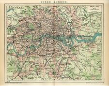 1902 ENGLAND INNER LONDON CITY PLAN Antique Map dated