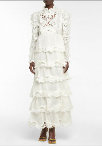 Zimmermann Luminous Embroidered Gown  Dress -BNWT- RRP$4,200 AUD