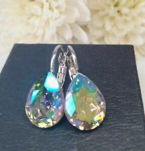 Crystal earrings Drop Earrings Genuine Swarovski element  Silver / Paradise Shin