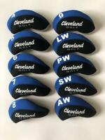 10PCS Golf Club Head Covers for Cleveland Iron Covers 4-LW Blue&Black Universal