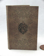 SPELL BOOK DARK GRIMOIRE Illustrated Book in 1:3 Scale Readable Book Doll Book