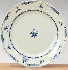Lovely! 18th c Qianlong Famille Rose Chine de Commande Plate Flowers Garden Qing