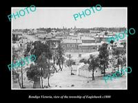 OLD LARGE HISTORIC PHOTO OF BENDIGO VICTORIA VIEW OF EAGLEHAWK TOWNSHIP c1880 1