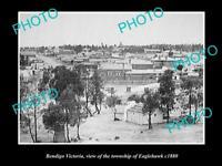 OLD LARGE HISTORIC PHOTO OF BENDIGO VICTORIA, VIEW OF EAGLEHAWK TOWNSHIP c1880 1