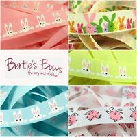 Bertie's Bows Easter Bunny 16mm Grosgrain Ribbon - 5 designs available, 1m or 3m