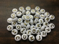 Wholesale! 100pcs Mixed Alphabet /Letter Acrylic Flat bead Beads 6x10mm