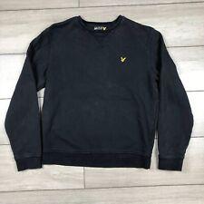 Lyle & Scott Jumper Sweater Crew Neck Black Medium