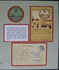 BP12) Ballonpostkarte 27.8.1911 Frankfurter Verein Luftschiffahrt Ballon Tillyii