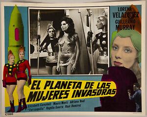 Original Mexican 1965 11x14 Lobby Card El Planeta De Las Mujeres Invasoras Fine