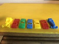 """MPC (Multiple Products Corp) Vintage 2"""" Plastic Cars Made USA Lot 7"""