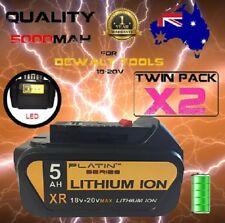 2x Platin for DEWALT BATTERY with LED DCB182 18V 20V 5.0AH XR LI-ION DCG412 5Ah