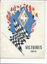 Renault  4CV   Victoires   Liège-Rome-Liège 1954   brochure  prospekt