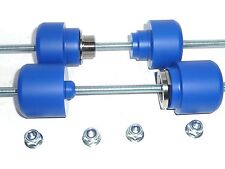 HUSQVARNA 701 ENDURO FRONT & REAR AXLE CRASH MUSHROOMS SLIDERS BOBBINS BLUE S1W