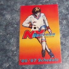 NY Express   Schedule indoor Soccer  league 1986-87